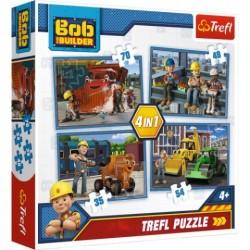 Puzzle Bob Budowniczy Pracowity dzień 4w1 Trefl