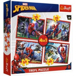 Puzzle Spiderman W sieci Spidermana 4w1 Trefl