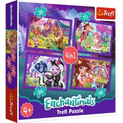 Puzzle Enchantimals Zabawa z pupilami 4w1 Trefl