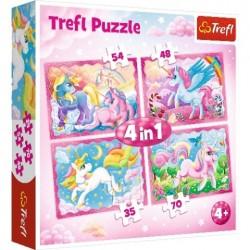 Puzzle Jednorożce Magiczny świat 4w1 Trefl