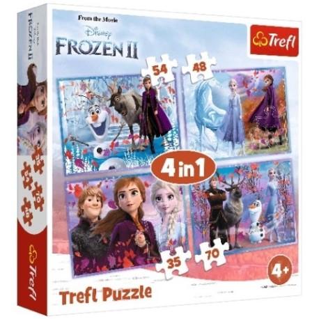 Puzzle Frozen 2 Podróż w nieznane 4w1 Trefl