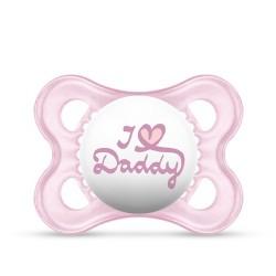 Smoczek MAM Love&Affection 2-6m różowy Daddy