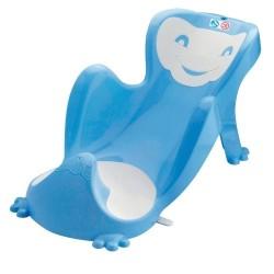 Leżaczek do kąpieli BABYCOON - niebiesko-biały