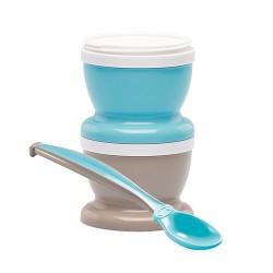Pojemniki na jedzenie z łyżeczką niebieskie Thermobaby