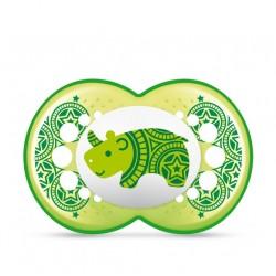 Smoczek MAM Clearline 6m+ zielony nosorożec
