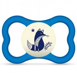 Smoczek MAM Air Night 6m+ niebieski z liskiem
