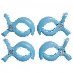 Klipsy do wózka 4szt. niebieskie Dreambaby