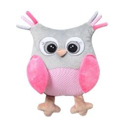Przytulanka dla niemowląt OWL SOPHIA róż Babyono