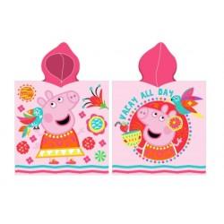 Ponczo plażowe Świnka Peppa różowe Carbotex