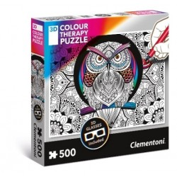 Puzzle Colour Therapy Sowa Clementoni