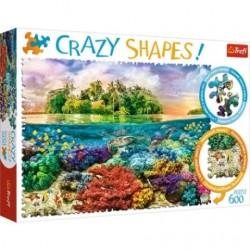 Puzzle Crazy Shapes Tropikalna wyspa Trefl