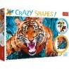 Puzzle Crazy Shapes Oko w oko z tygrysem Trefl