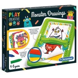 Play Creative Rysuj Potworki 4+ Clementoni