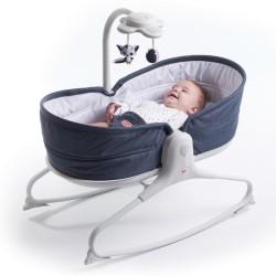 Leżaczek bujaczek łóżeczko 3w1 ROCKER Denim Tiny Love