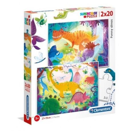 Puzzle Dinozaury 3+ 2x20el. Clementoni