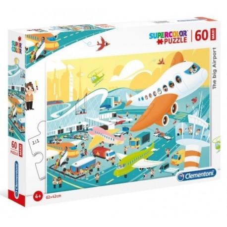 Puzzle Maxi Duże lotnisko 4+ Clementoni