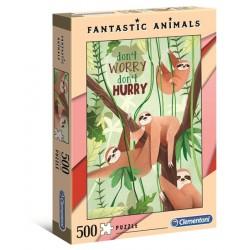 Puzzle Fantastic Animals Leniwce Clementoni