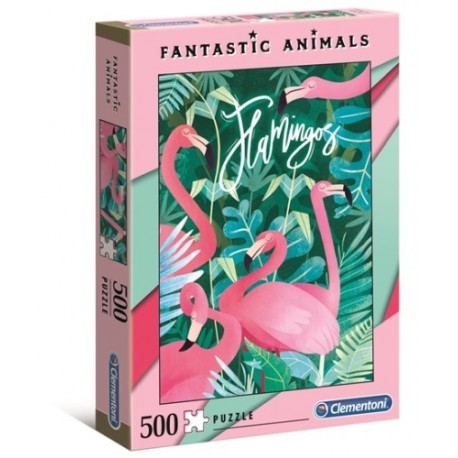 Puzzle Fantastic Animals Flamingi Clementoni