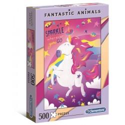 Puzzle Fantastic Animals Jednorożec Clementoni