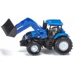 Traktor New Holland z przednią ładowarką SIKU