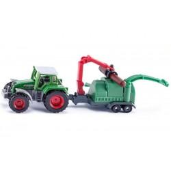 Traktor Fendt z rębakiem do drewna SIKU