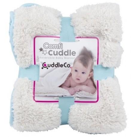 Kocyk niemowlęcy Comfi-Cuddle niebieski CuddleCo
